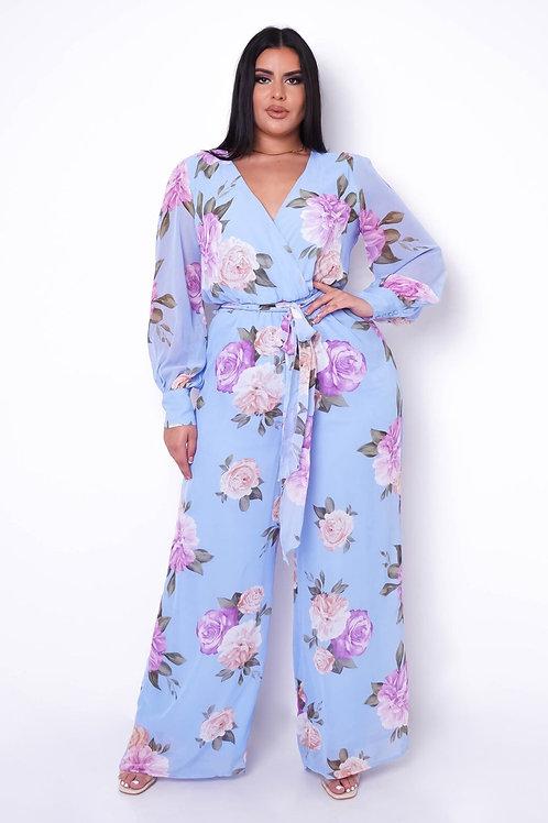 Lara Floral Jumpsuit || Plus Size