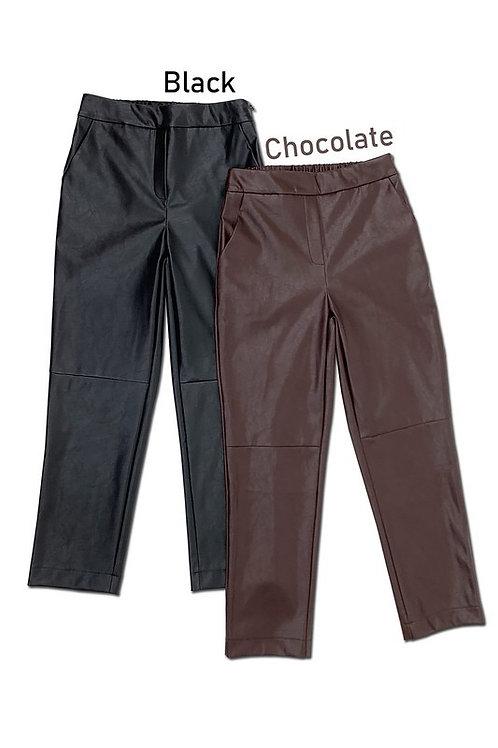 Sophia PU Cropped  Pants