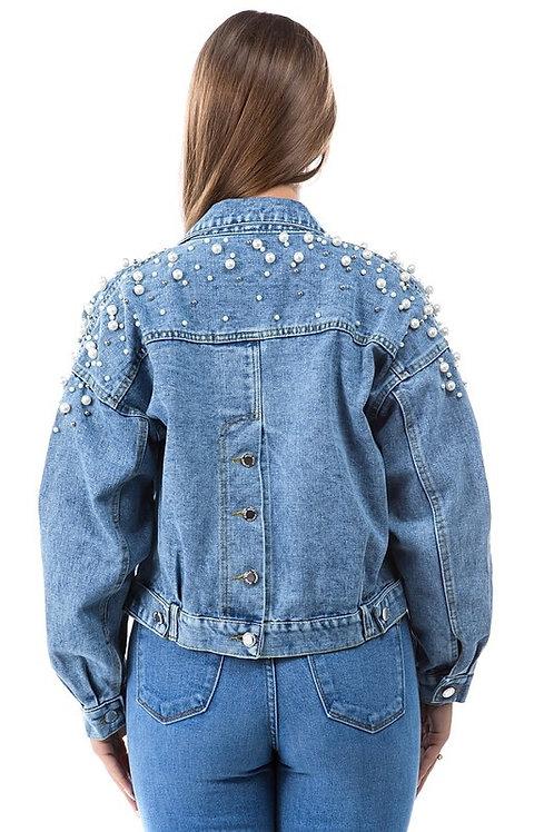 Pearl Me Denim Jacket