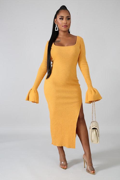 Knit Me Up Split Dress