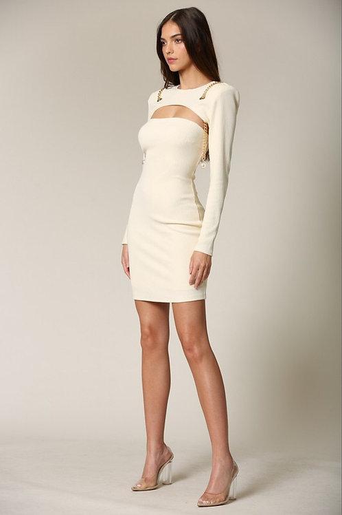 Michelle Pearl Chain Dress