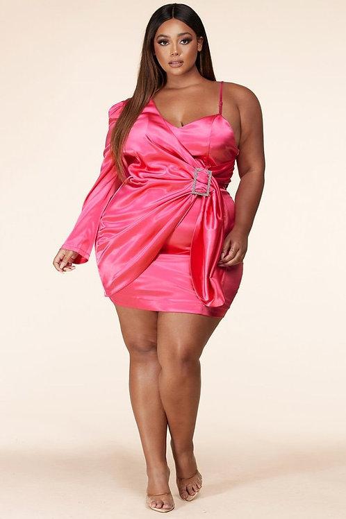 Plus Savanna Satin Dress