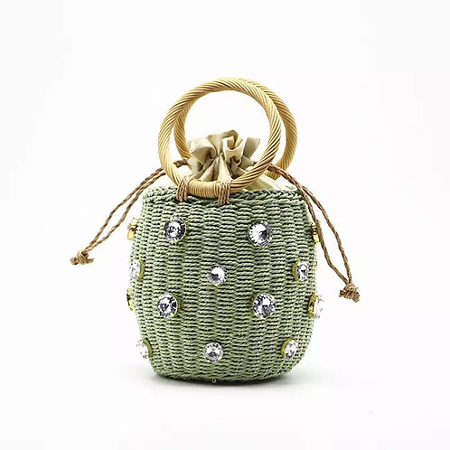 Bedazzled Woven Bag