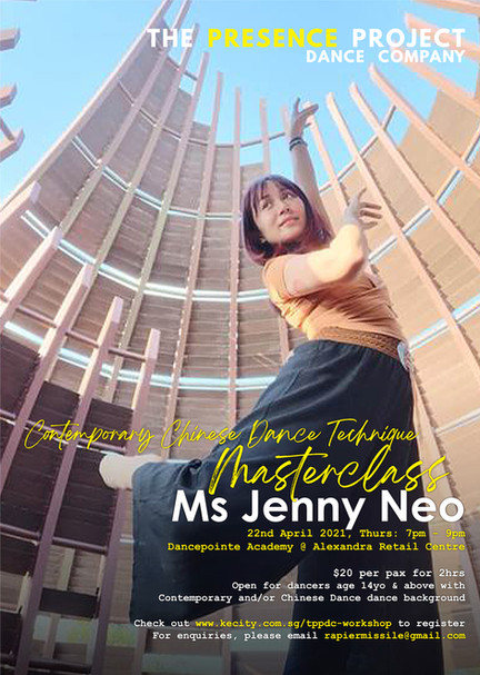22 Apr: Contemporary Chinese Dance Technique Masterclass by Ms Jenny Neo