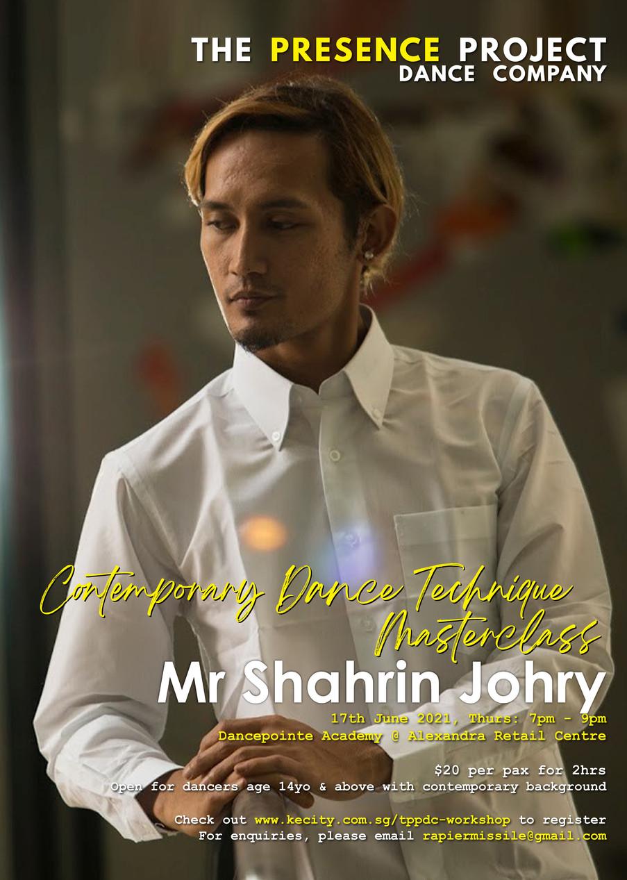17 June: Contemporary Dance Technique Masterclass by Mr Shahrin Johry