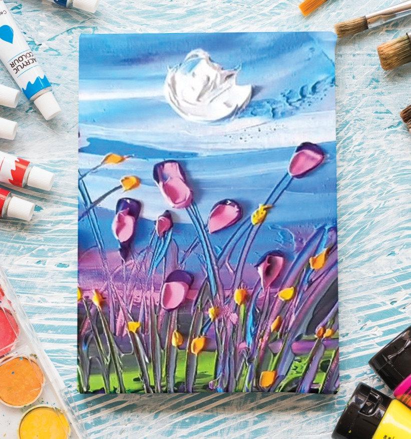 3D Floral Oil Painting