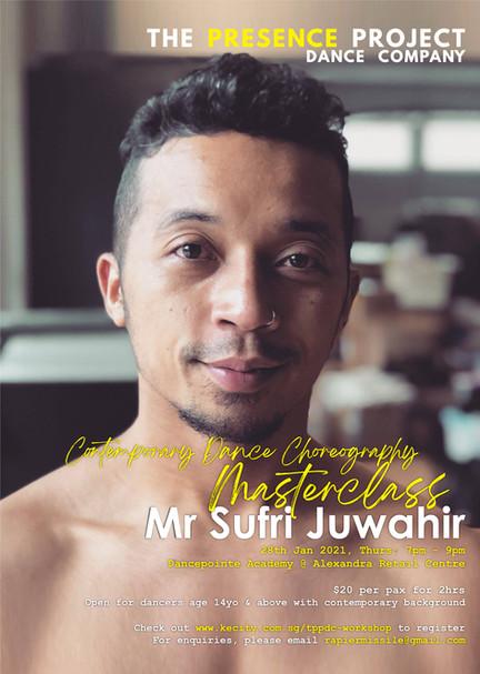 28 Jan: Contemporary Dance Choreography Masterclass by Mr Sufri Juwahir