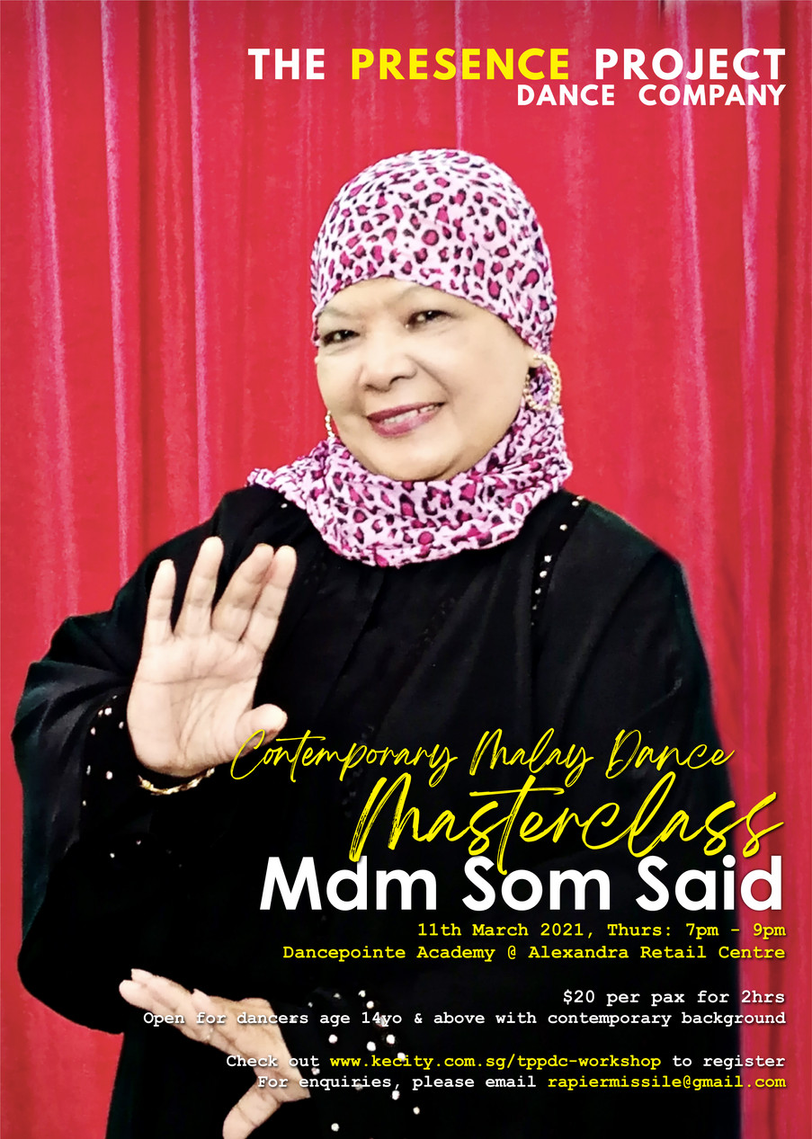 11 Mar: Contemporary Dance Masterclass by Mdm Som Said