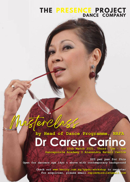 25 Mar: Masterclass by Dr Caren Carino, Head of Dance Programme, NAFA