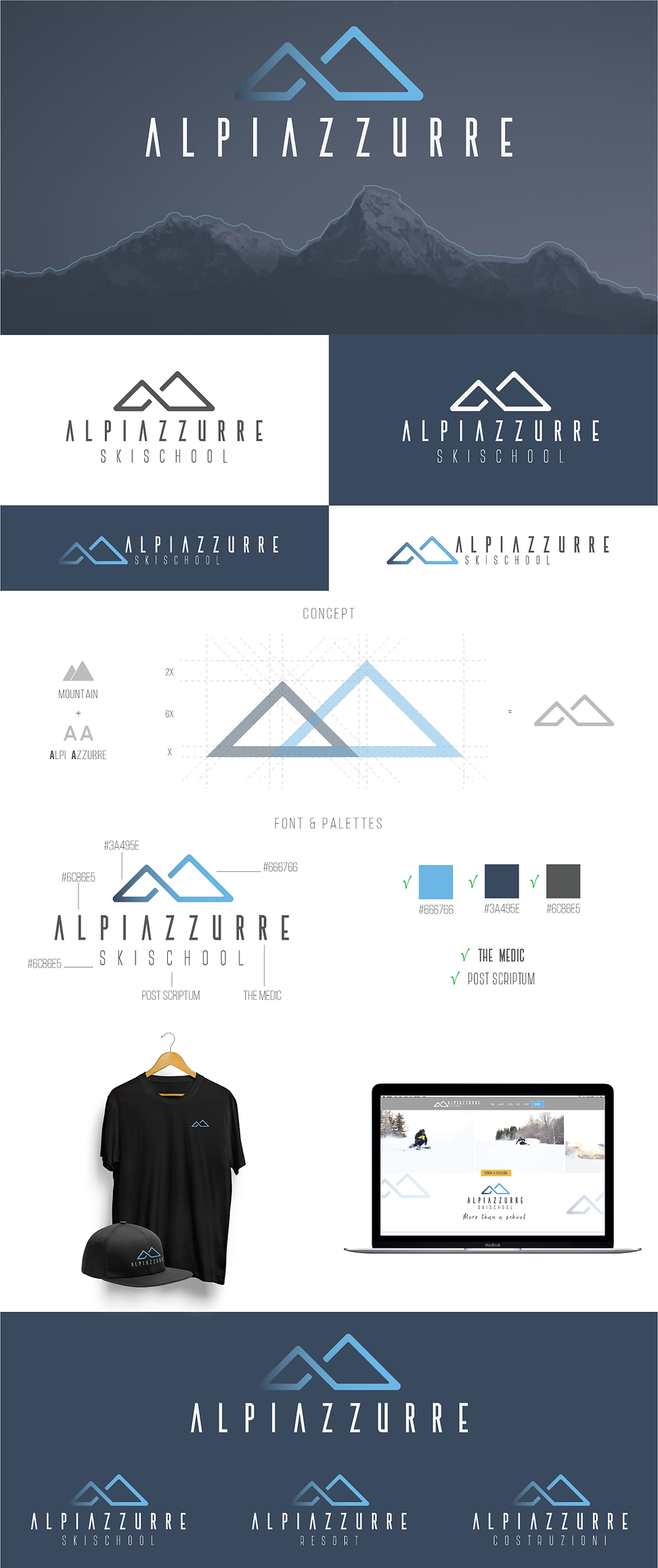 Logo Alpi Azzurre Lorenzo Dalmasso