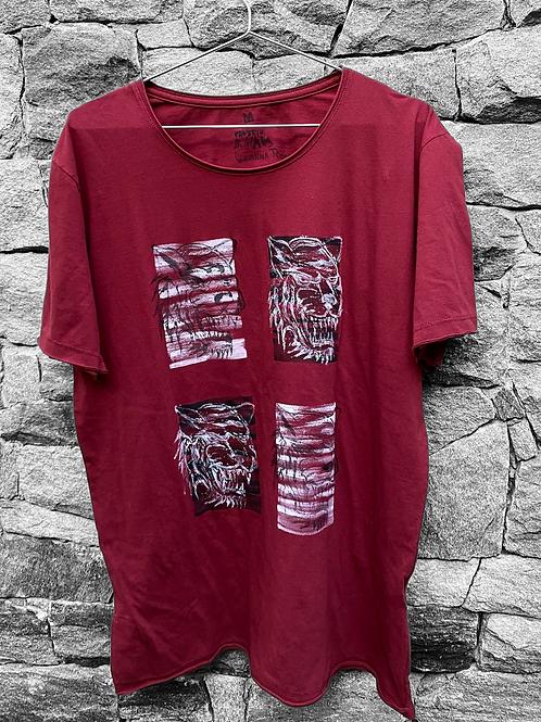 Camiseta vinho 4 tigres