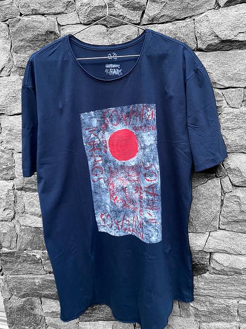 Camiseta azul tigre oriental