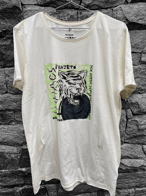Camiseta off white tigre menta