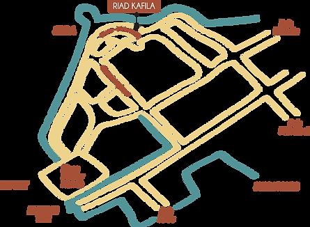 map Riad Kafila, Essaouira