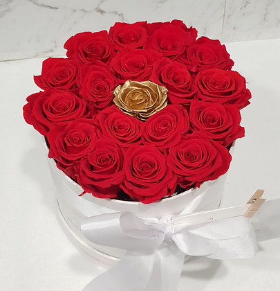 Red & Gold Luxe Rose Box