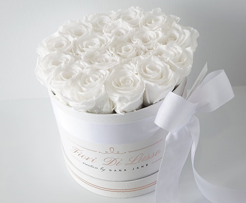 White Luxe Rose Box