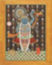 43 SHRINATHJI WITH FLOWER 30.5 x 25.jpg