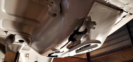 AUDI Quattro - réparation support crochet de remorquage