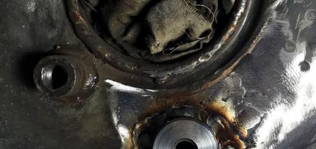 Réparation fixation de barre de torsion arraché - Projet transformation PORSCHE 911 en RSR