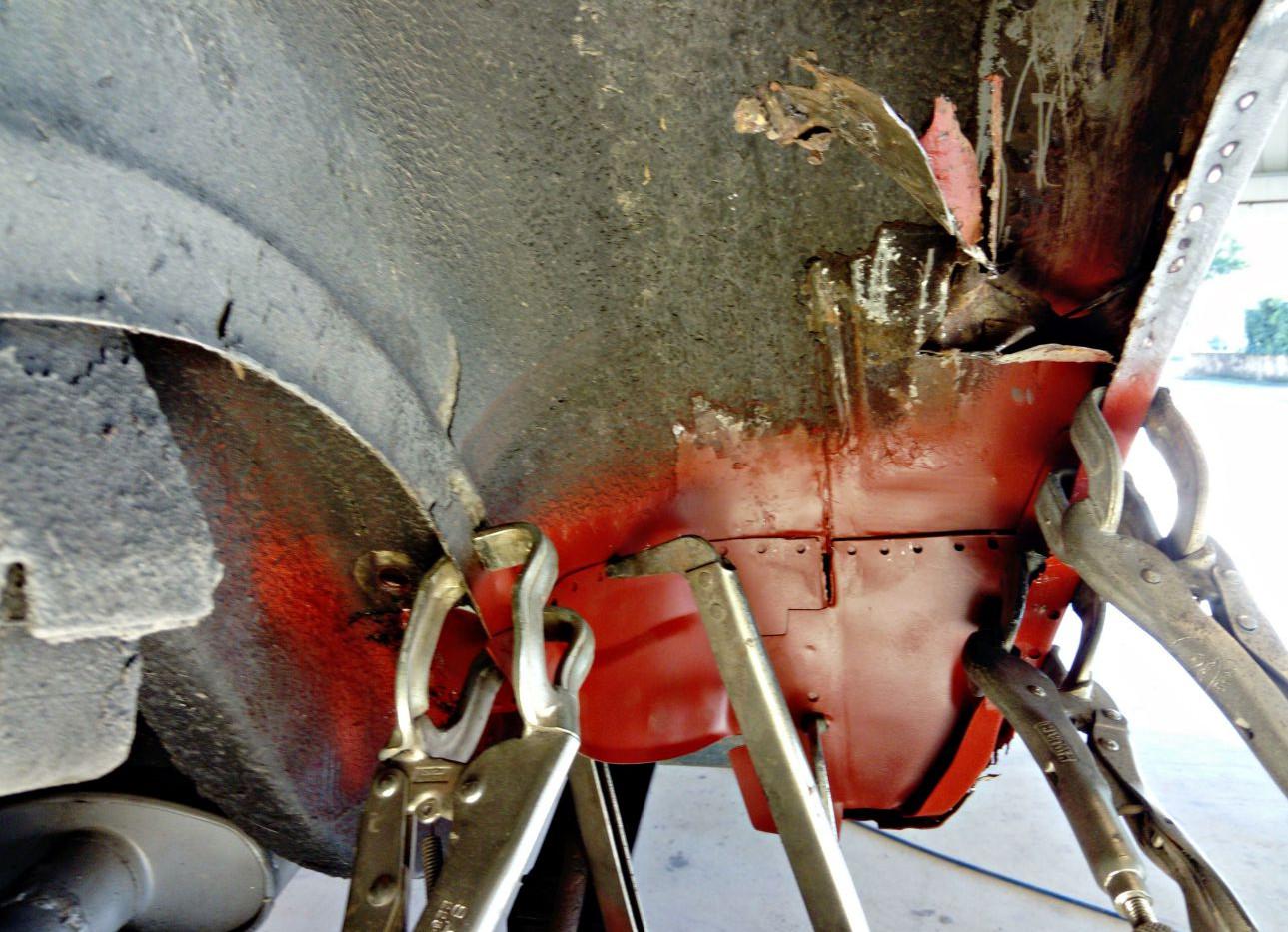 Réparation intérieur d'aile arrière droit - FORD Mustang Fastback