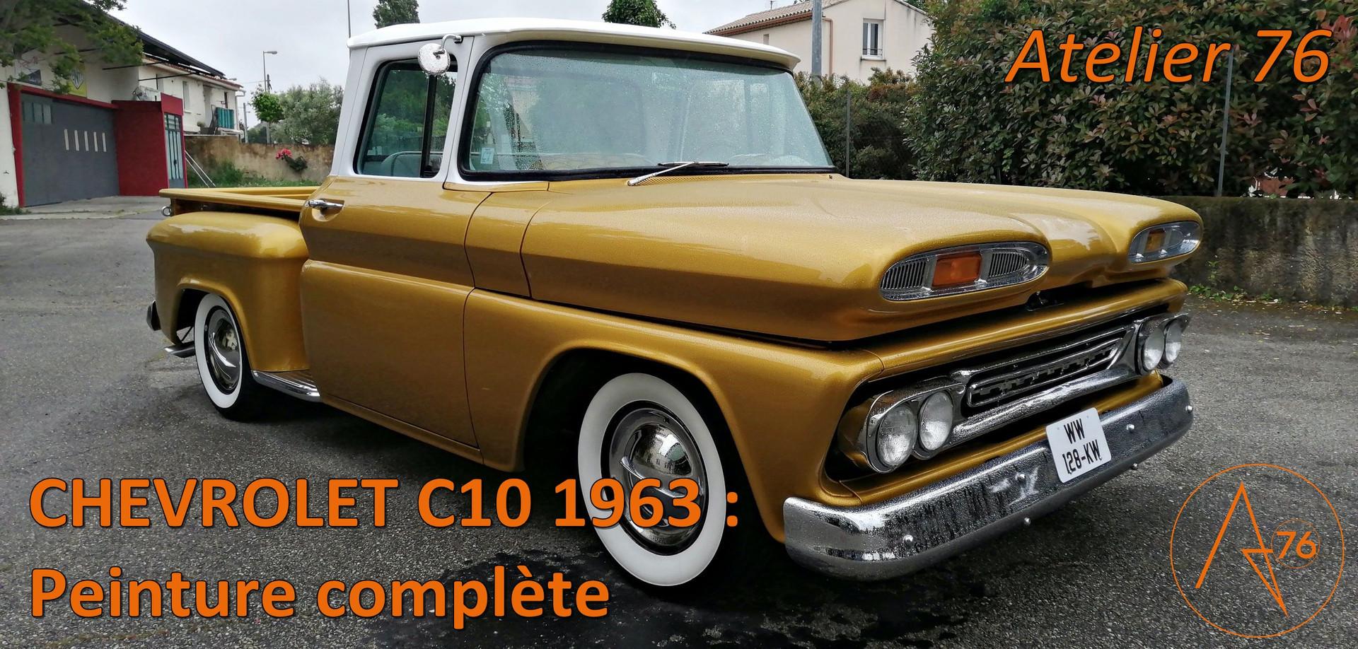 CHEVROLET C10 restaurée chez Atelier 76