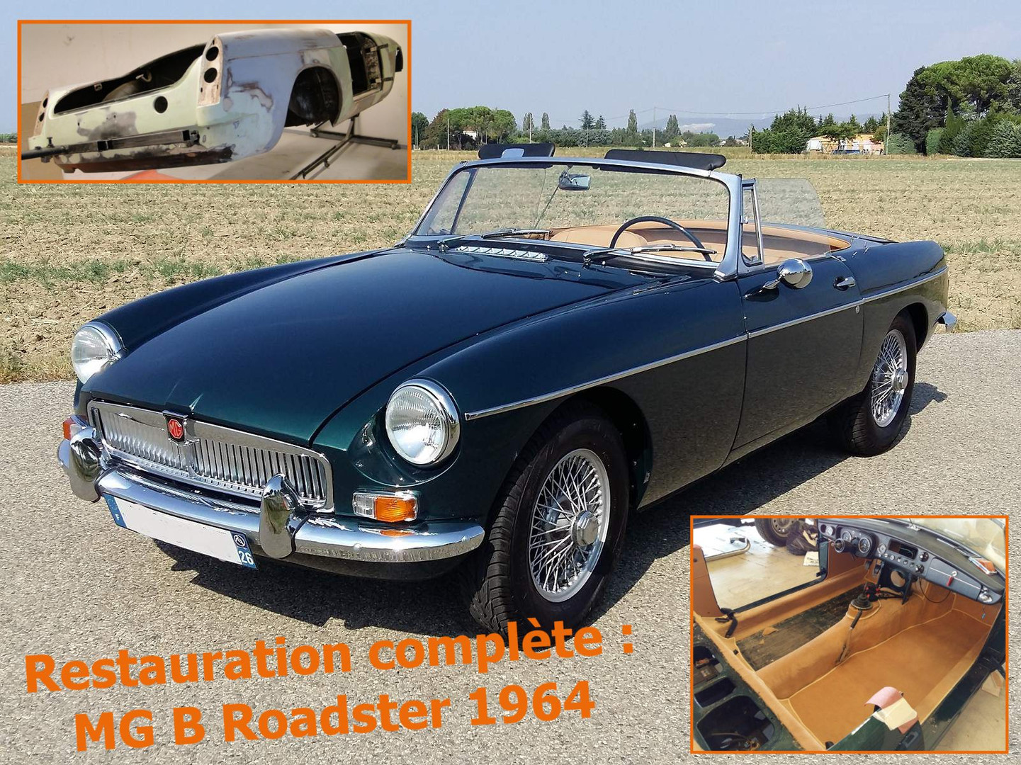 MG B Roadster 1964 restaurée chez Atelier 76