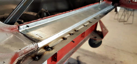 AUDI Quattro - réparation bas de caisse droit