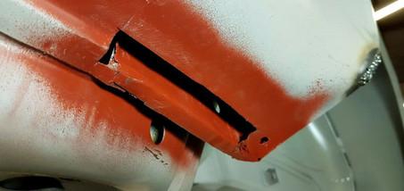 AUDI Quattro - réparation bas d'aile arrière droite