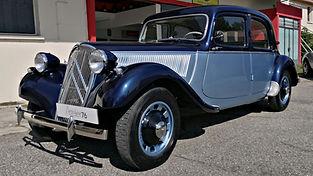 Citroën traction 11bl 1954 restaurée chez Atelier 76 (peinture et sellerie)