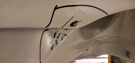 AUDI Quattro - réparation aile arrière droite