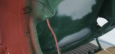 TRIUMPH Spitfire 1500 - mise en peinture