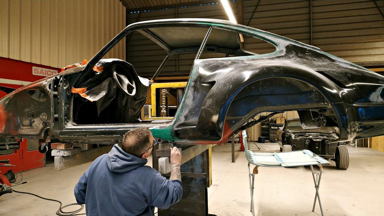 Pose kit carrosserie - Projet transformation PORSCHE 911 en RSR