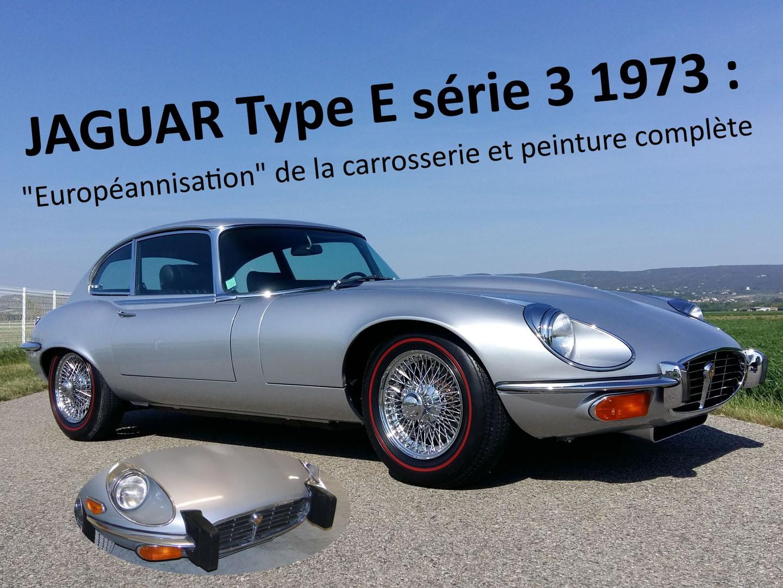 JAGUAR Type E série 3 V12 restaurée chez Atelier 76