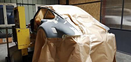 Mise en apprêt - Projet transformation PORSCHE 911 en RSR