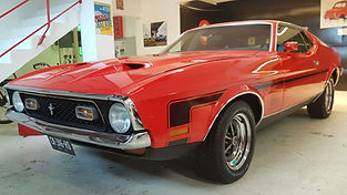FORD Mustang Mach one restaurée chez Atelier 76