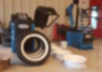Pose de pneumatiques Atelier 76