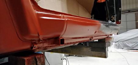 Réparation bas de caisse droit - Projet transformation PORSCHE 911 en RSR