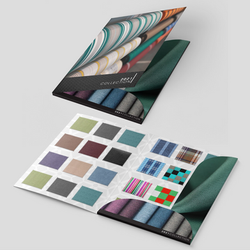 Printed catalogs and brochures with swatches