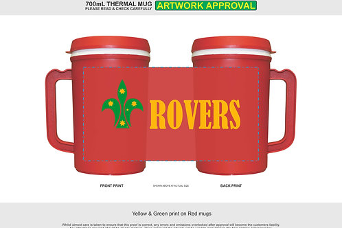 WA Rovers 700ml Insulated Mug