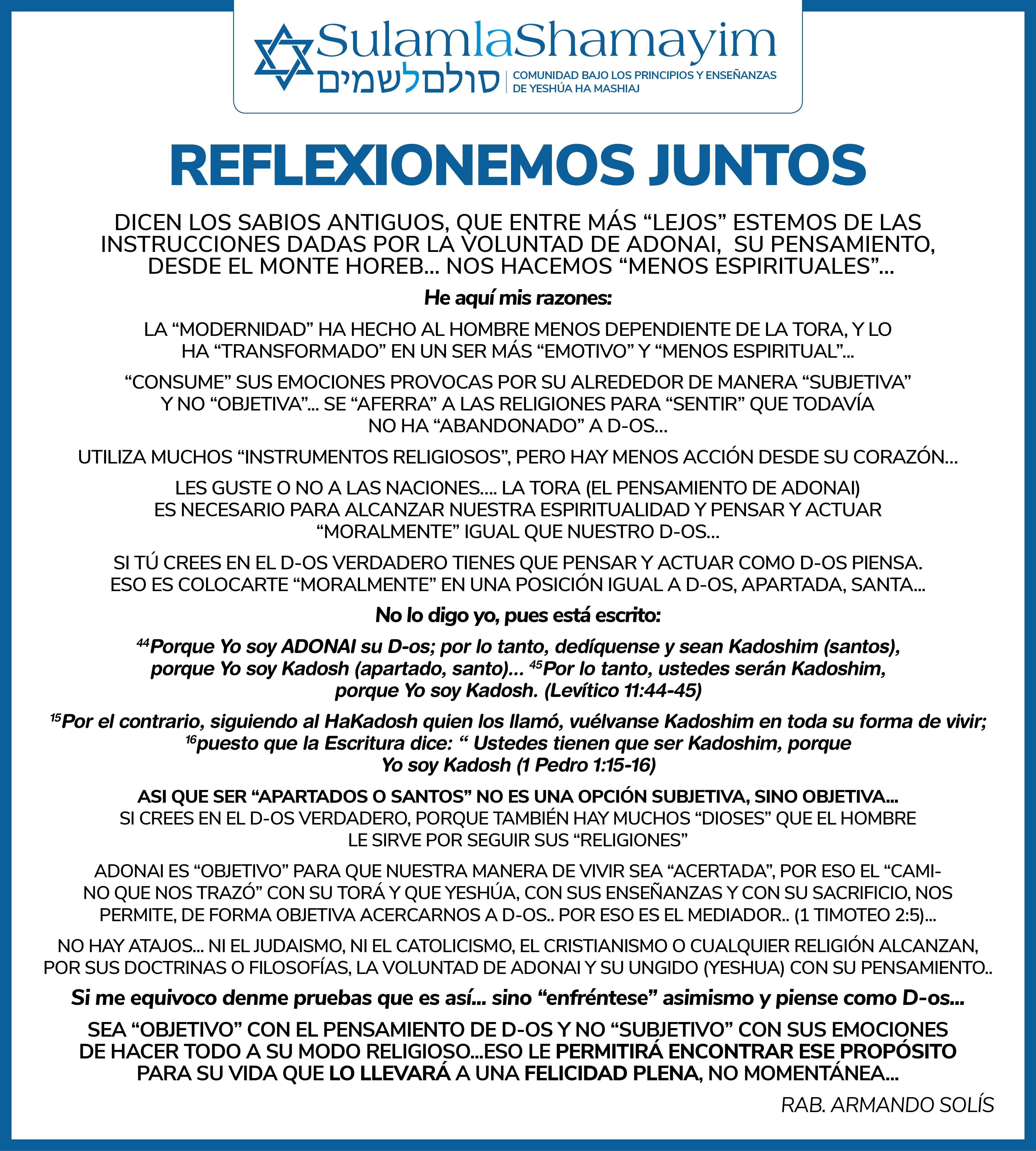 DICEN LOS SABIOS...