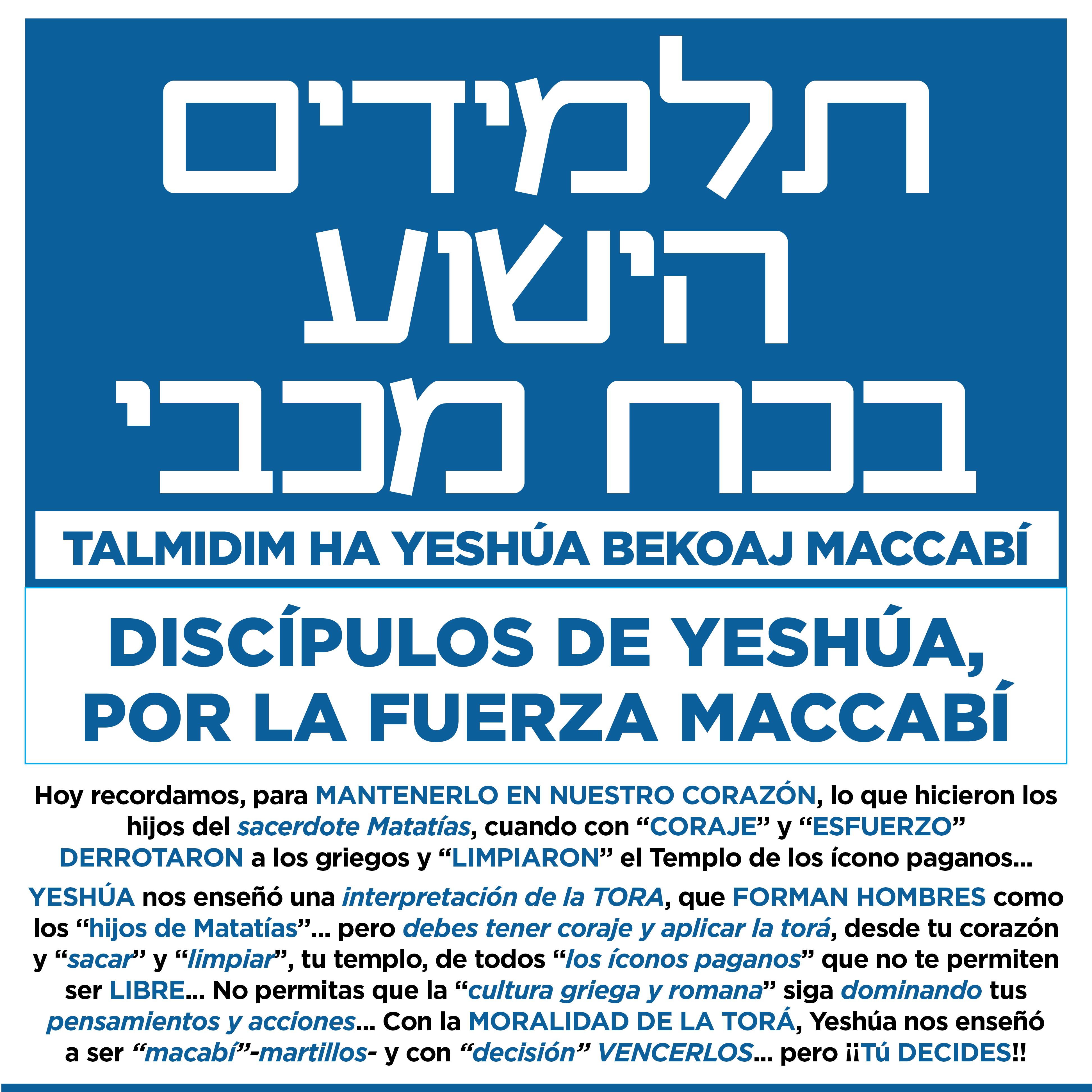 BANNER TALMIDIM MACCABI