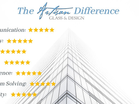 Why Artisan Glass & Design is the Top Glazing Contractor in Southern California.