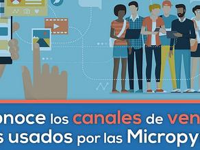 ¿Cuáles son los canales de ventas más usados por las Micropymes?