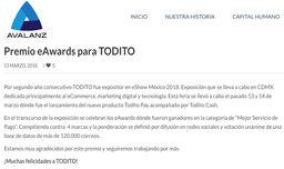 eAwards México 2018 Todito Pagos