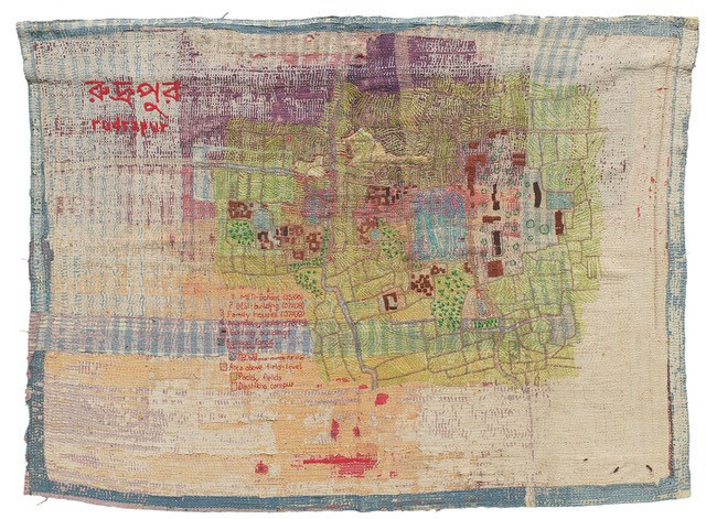 Master planning the city through 'hand-drawn' textiles