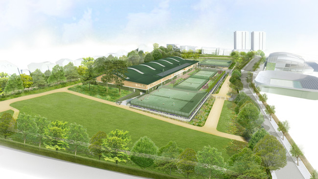 Signature roof installation at All England Lawn Tennis Club