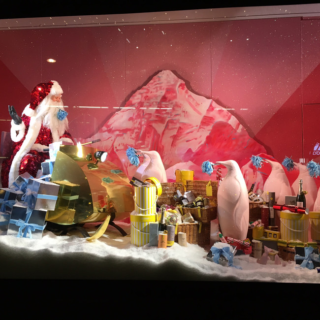 Santa sequins and Brexit Christmas windows