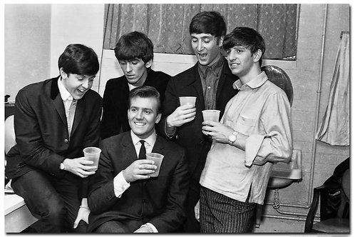 Billy with The Beatles - autographed photo