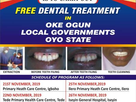 CFDF  Plans phase 2 of Free Dental Treatment in Oke Ogun, Oyo State.
