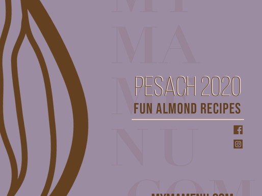 Fun Almond Recipes - Pesach 2020